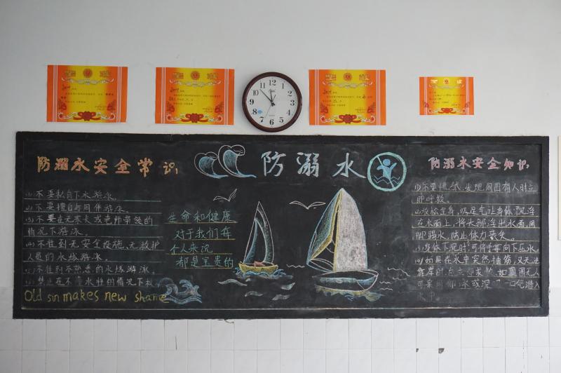 我校利用国旗下讲话,黑板报,主题班队会等形式开展防溺水安全教育.
